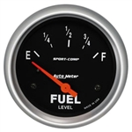 1967 - 1997 Fuel Gauge (Auto Meter Sport Comp), Dash, 0 Ohms / 90 Ohms, 2 5/8 Inch, Analog, Electrical, Each