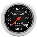 Speedometer Gauge (Auto Meter Sport Comp), Dash, 0-120 mph, 3 3/8 in., Analog, Mechanical, Each