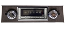 1967 - 1968 USA-740 Camaro Radio with Bluetooth, AM/FM Stereo, USB, CD Control, Auxiliary Input, with Walnut Woodgrain Bezel
