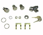 1979 - 1981 Camaro Locks Set: Glovebox, Trunk, and Doors with Medium Length Cylinders Kit