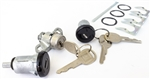 1970 - 1973 Camaro Custom BLACK Door Lock Set and Trunk Lock with GM Oval Head Style Keys, Long Door Cylinders