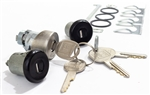 1978 - 1981 Camaro Custom BLACK Door Lock Set and Trunk Lock with GM Oval Head Style Keys, Long Door Cylinders