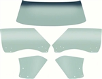 1968 - 1969 Camaro TINTED CONVERTIBLE Glass Kit, 5 Pieces