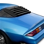 1975 - 1981 Camaro Rear Window Glass Louver Sun Shade, 3 Piece with Aluminum Center