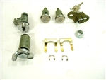 1970 - 1973 Camaro Complete Locks Set, Long Door Cylinders with GM Square Head Keys