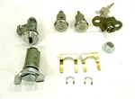 1970 - 1973 Camaro Complete Locks Set, Short Door Cylinders with GM Square Head Keys