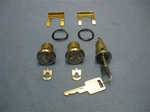 1968 Locks Set, Ignition and Doors, GM Later Style Square Head Keys