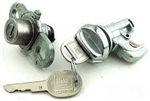 1974 - 1977 Locks Set, Glove Box and Trunk, 3/4 Long Shaft, GM Later Style Round Head Keys