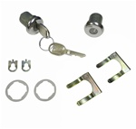 "1970 - 1981 Door Locks and Keys Set, Medium Cylinder 3/8"" with Round Head"