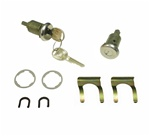 1970 - 1981 Camaro Door Locks Set, Long Cylinder 3/4 Inch, Round Headed GM Keys