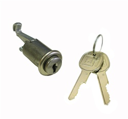 1967 - 1968 Camaro Glove Box Lock, GM Round Headed Keys