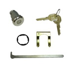 1967 Lock, Trunk, With GM Later Style Round Headed Keys, Set
