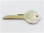 1968 Camaro Key Blank, GM Logo with Pearhead, OE Style