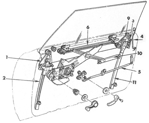 1967 camaro door window diagram