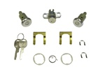 1970 - 1973 Locks Set, Doors and Trunk, Long Cylinders, Round Head Keys