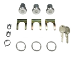 1978 - 1981 Camaro Locks Set, Doors and Trunk, Long Cylinders, GM Round Headed Keys