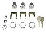 1978 - 1981 Camaro Locks Set, Doors and Trunk, Medium Cylinders, Round GM Headed Keys