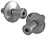 1982 - 1992 Camaro Door Jamb Strikers, Stainless Steel Pair