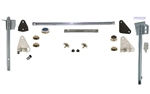 1968 - 1969 Camaro Complete Door Window Glass Installation Kit with Tracks, LH