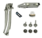 1967 - 1969 Camaro LH Quarter Window Glass Track, Roller, and Mounting Plate Kit