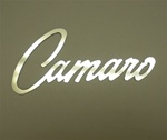 Custom Polished Stainless Steel Camaro Logo Fender Emblem, Peel and Stick