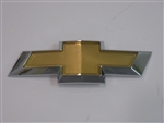2010 - 2013 Camaro Rear Tail Panel Trunk Emblem, Bow Tie Logo with Gold and Chrome, OE Style
