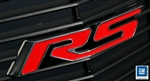 2010 - 2013 Grille Emblem Heritage RS, Billet Aluminum, Red with Polished Trim