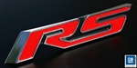 2010 - 2013 Rear Panel Emblem RS, Billet Aluminum, Red with Polished Trim