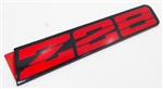 1991 - 1992 Camaro Rocker Panel Emblem, Z28, Red