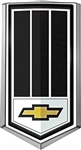 1979 Camaro Z28 Front Grille Emblem with Black and Chrome Bow Tie Logo Shield