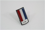 1982 - 1985 Header Panel Emblem, Bow Tie Logo Shield, Colors: Red, White, and Blue (Not for Z28)