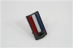 1982 - 1985 Header Panel Emblem, Bow Tie Logo Shield, Colors: Red, White, and Blue (For Z28, IROC, and 82 Pace Car)