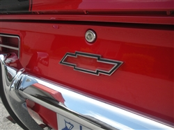 1969 Camaro Custom Rear Panel Emblem, Bow Tie Logo, CLEAR to Reveal Body Paint Color