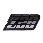 1980 - 1981 Camaro CHARCOAL Gray Z28 Gas Fuel Door Emblem