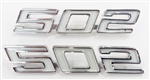 Camaro Custom Angled 502 Emblem Set, Pair