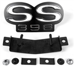 1967 - 1968 Camaro Super Sport SS 396 Grille Emblem, Fits 67 All Models and 68 Models with Rally Sport Grilles