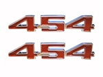 "Engine Size Emblems, ""454"", Custom, Red - Pair"