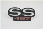 "1967 - 1969 Rear Panel Emblem, Super Sport ""SS 427"", Made in the USA"