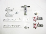 1968 Camaro Emblems Set for Z/28 with Rally Sport, Complete | Camaro Central