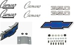 1969 Camaro Emblems Set for 350 Engines, Standard Blue Bowties