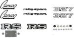 1969 Emblems Set for Rally Sport 327