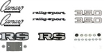 1969 Emblems Set for Rally Sport 350