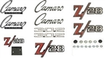 1969 Emblems Set for Z/28 with 302 Hood Emblems