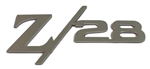 Custom Polished Stainless Steel Z/28 Emblem with Peel and Stick Adhesive Backing, Ea