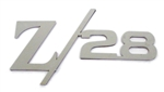 Custom Rear Panel Z/28 Emblem, Polished Stainless Steel