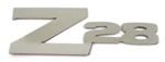 1970 - 1981 Camaro Custom Polished Stainless Steel Rear Panel Emblem Z28 with Adhesive Backing