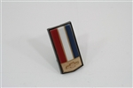 1985 Header Panel Emblem for Berlinetta, Bow Tie Logo Shield, Colors: Red, White, Blue, and Gold