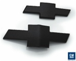 2010 - 2011 Billet Front and Rear Bowtie Emblems Set, Black