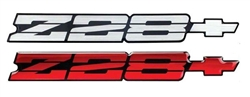 1991 - 1992 Camaro Rear Panel Emblem, Z28 with Bow Tie, Choice of Color