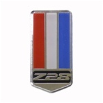 "1993 - 2002 Header Panel Emblem, ""Z28"" Logo on Shield, Custom, Colors: Red, White, and Blue, USA Made"